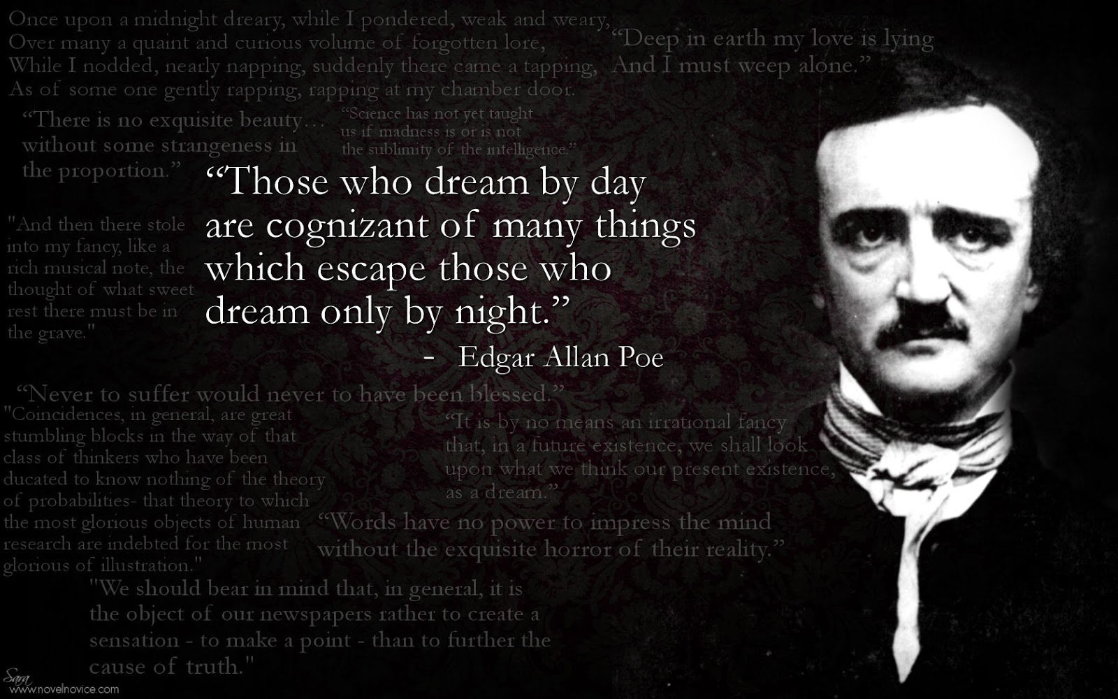 Ms wallpapers gticos Relatos de Edgar Allan Poe Edgar Allan Poe 1600x1000