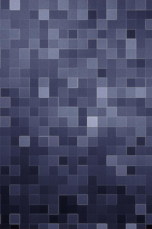 Pixel blue grey background iPhone 4   iPhone 5 retina wallpaper 640 x 640x960