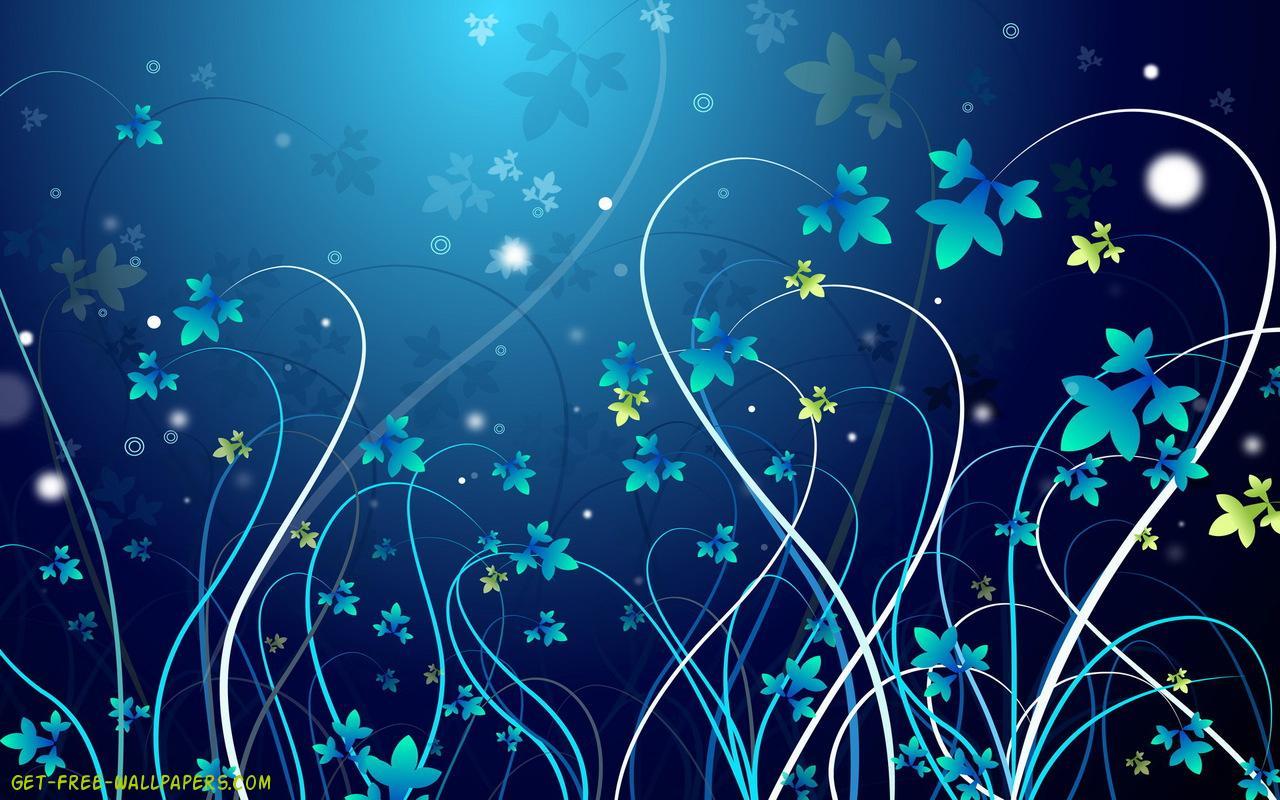 Download pretty blue vines Wallpaper 1280x800