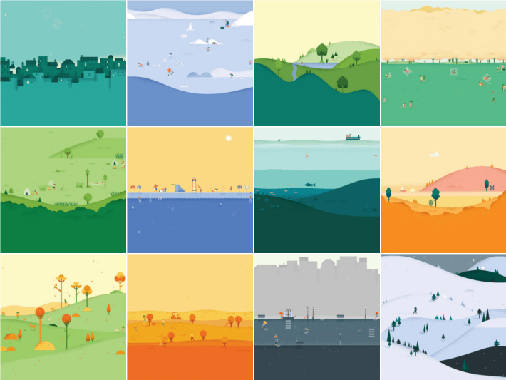 New Google Calendar app seasonal backgrounds ready for download 710x533