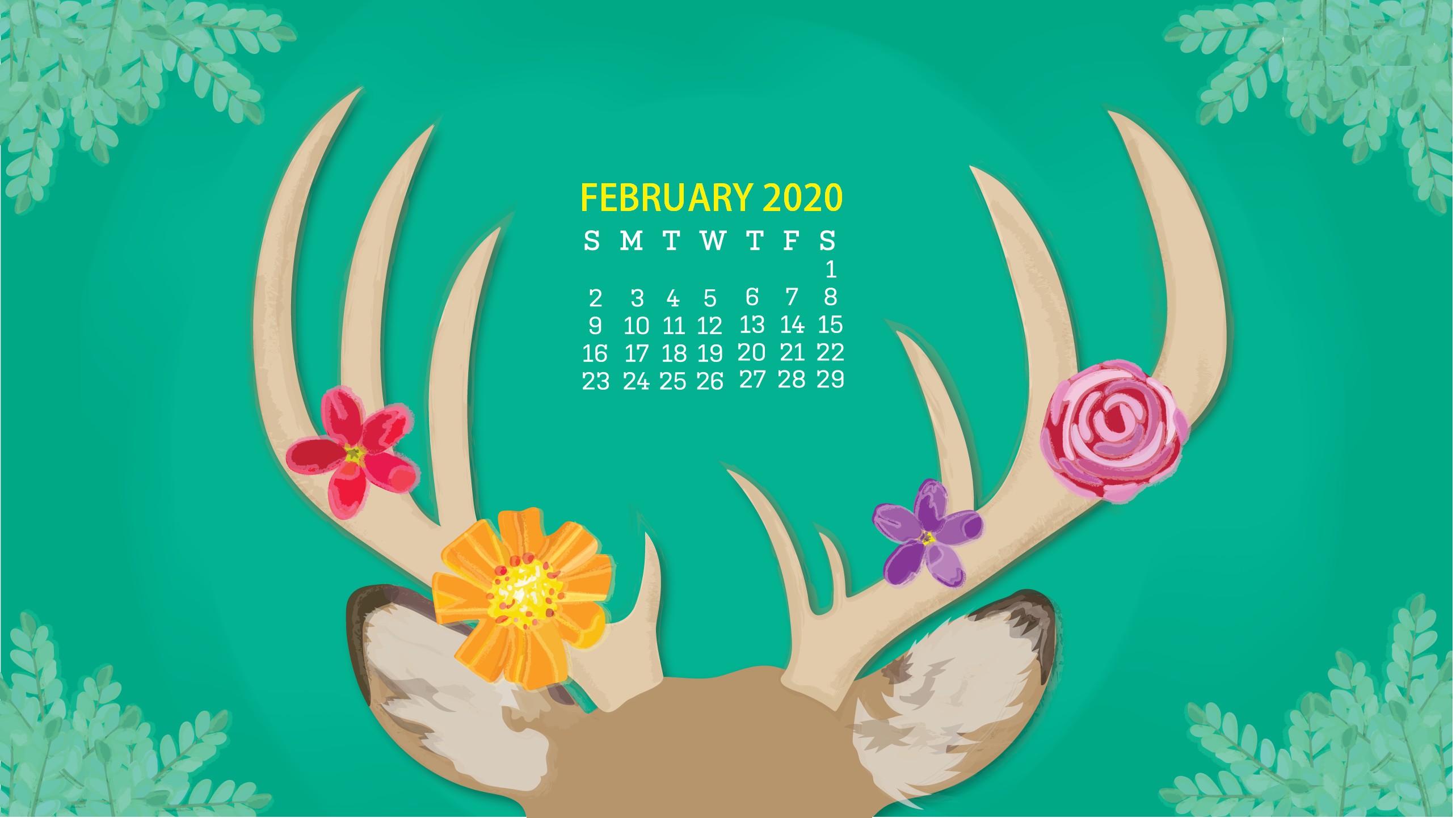 Cute 2020 Desktop Calendar Wallpaper Latest Calendar 2566x1442