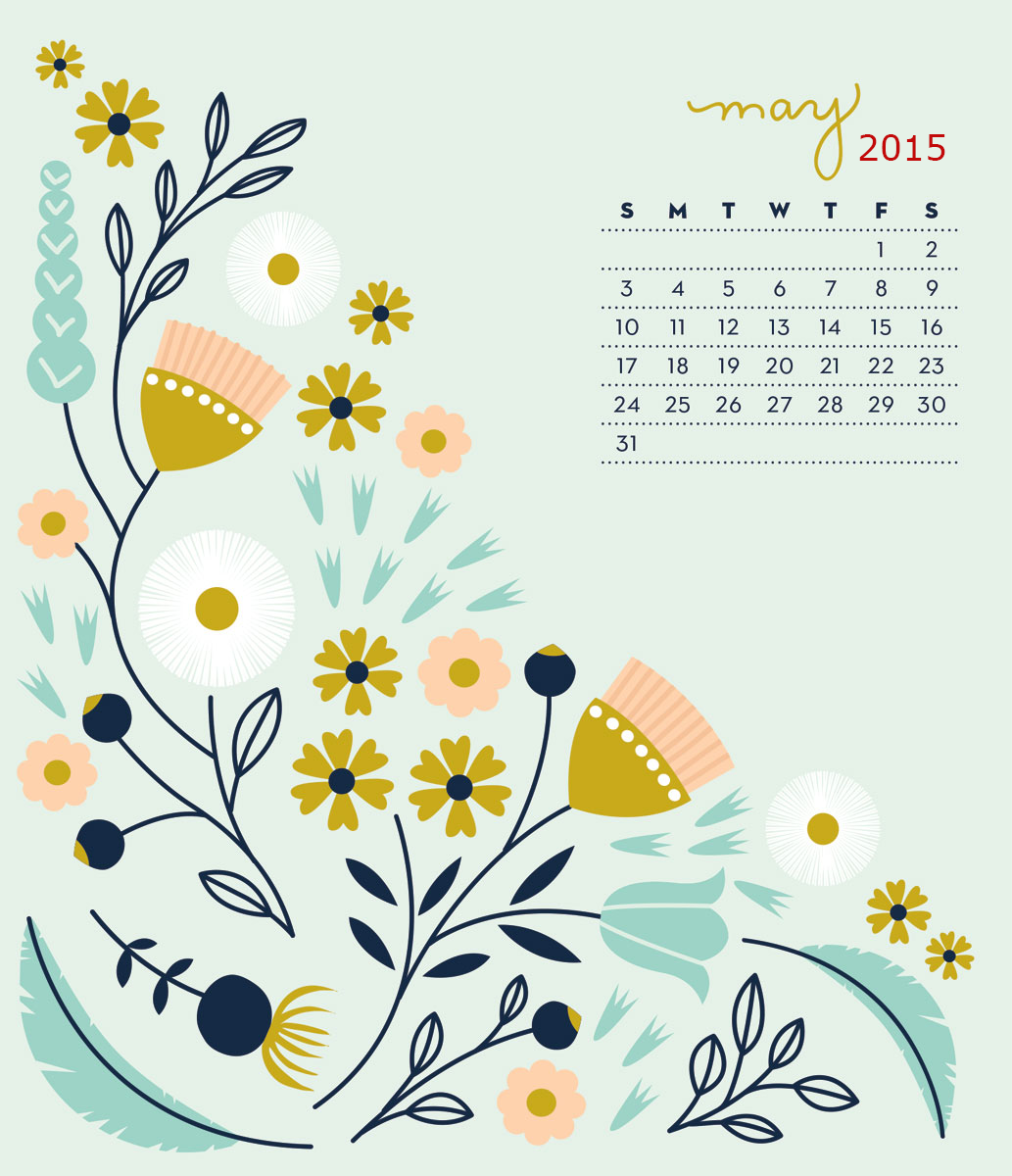 Desktop Wallpapers Calendar May 2015 1033x1200