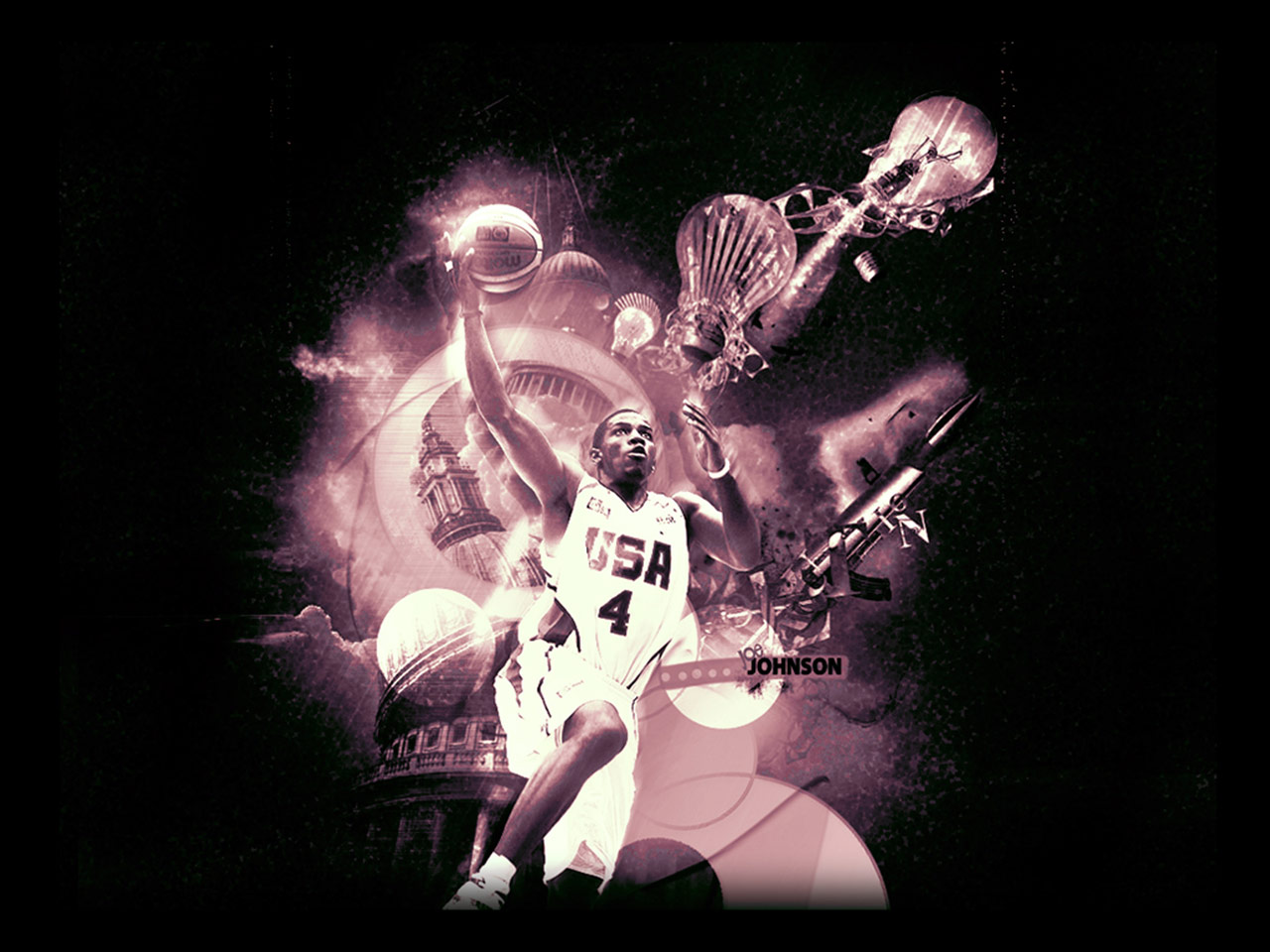 Joe Johnson Dream Team Dunk Wallpaper Basketball 1280x960