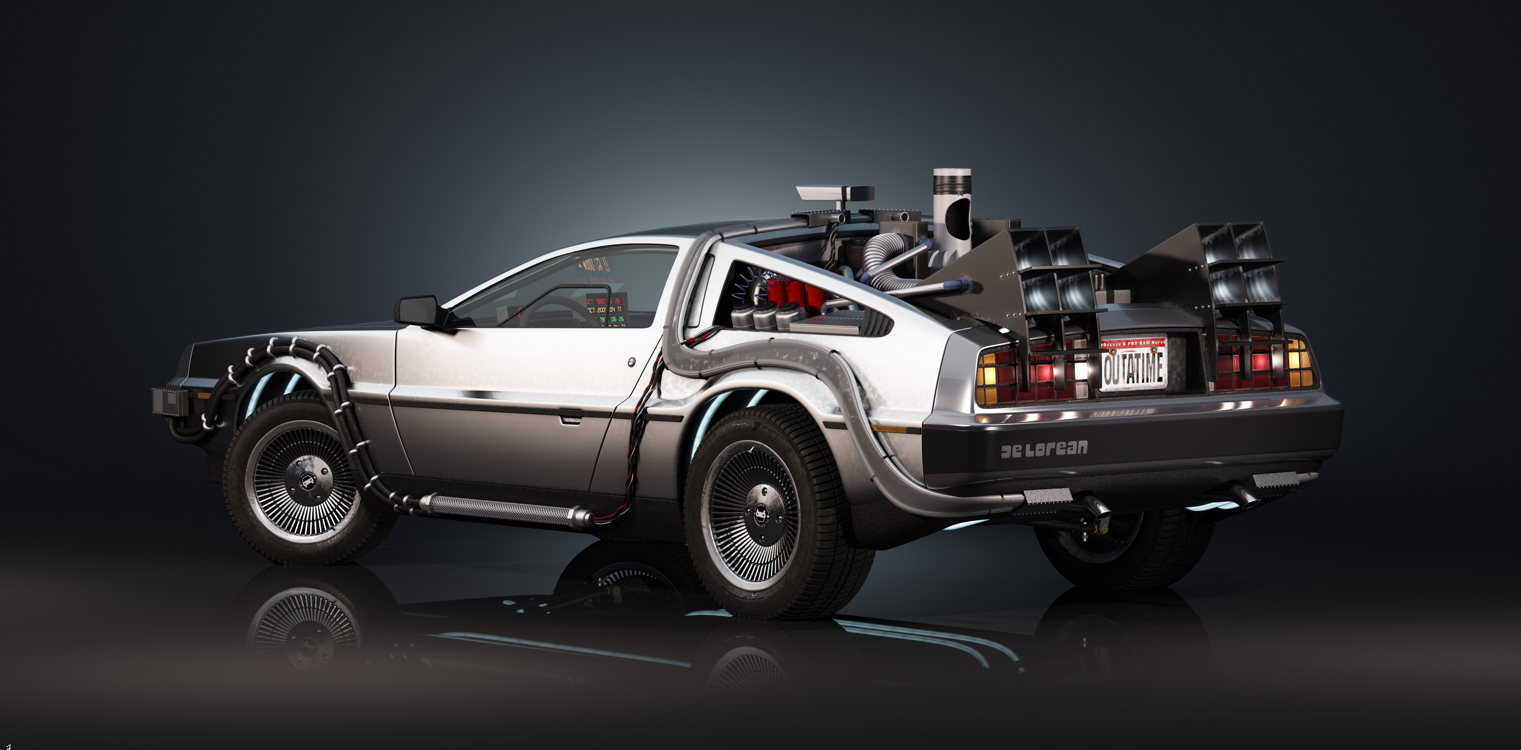 Back To The Future Computer Wallpapers Desktop Backgrounds 3000x1480