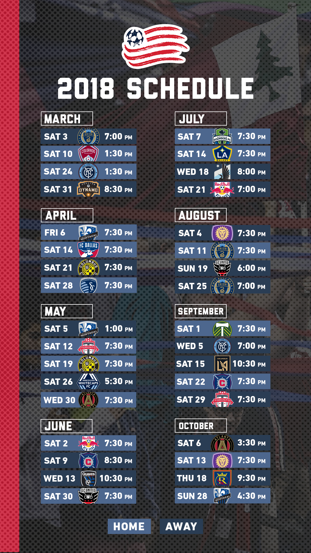 New England Revolution Schedule Examples and Forms 1080x1920