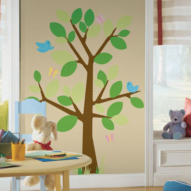 RoomMates Peel Stick Wall Decals   Dotted Tree Target Australia 620x620