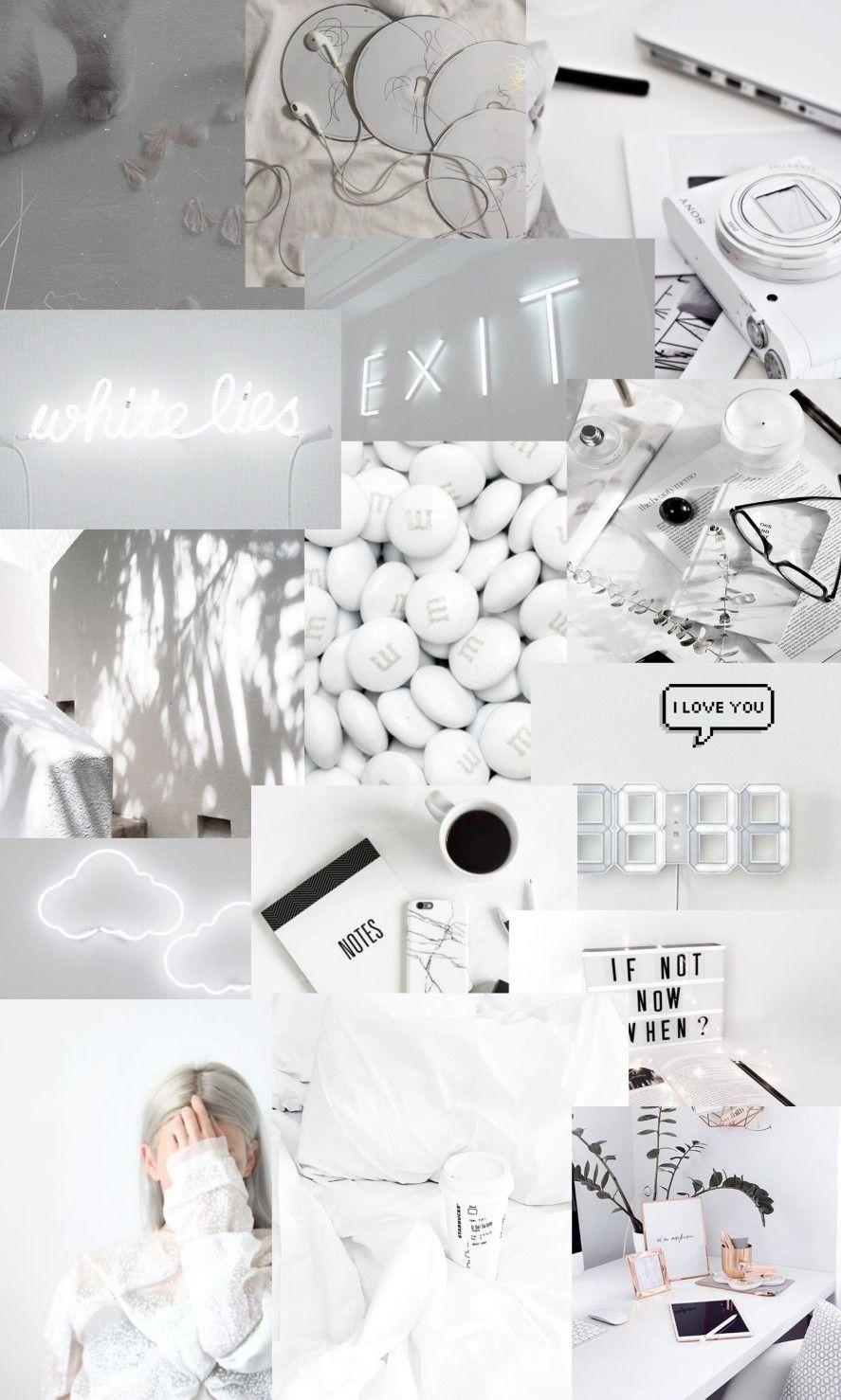 Walpaper white Mood wallpaper Iphone wallpaper tumblr aesthetic 887x1478