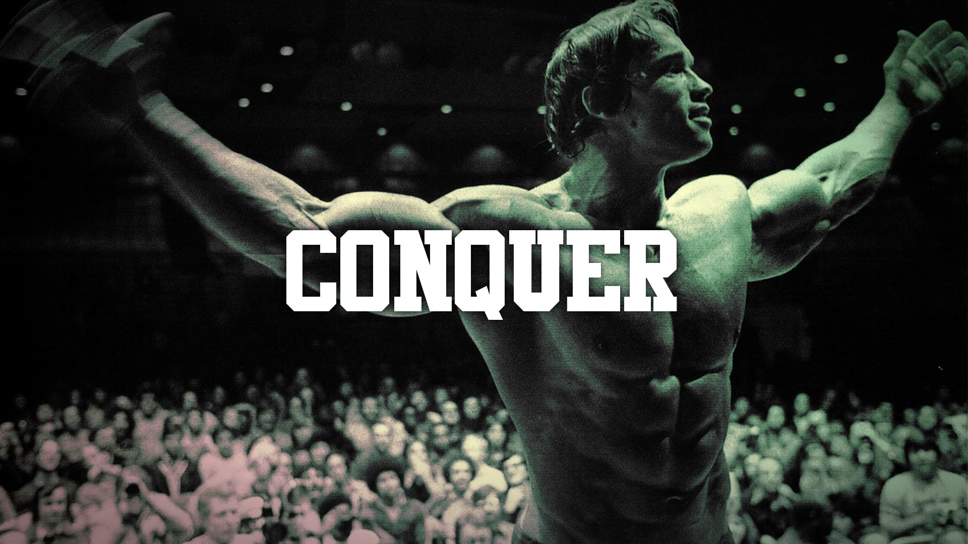 Arnold Schwarzenegger Conquer Muscle Bodybuilding wallpaper background 1920x1080