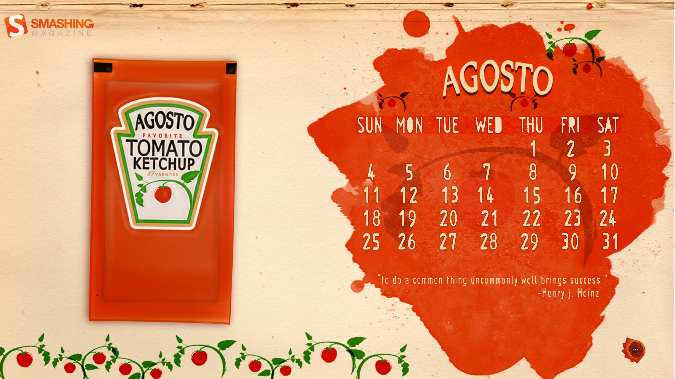 Desktop Wallpaper Calendars: August 2013 – Smashing Magazine