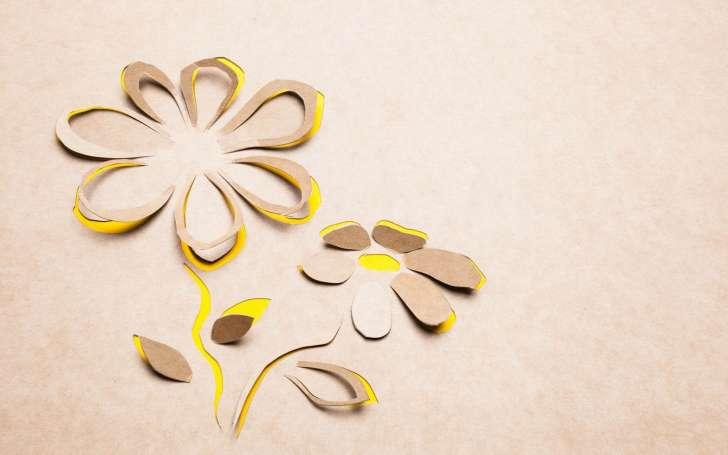 Mood Flowers Yellow Paper Hd Wallpaper Wallpaper List 728x455