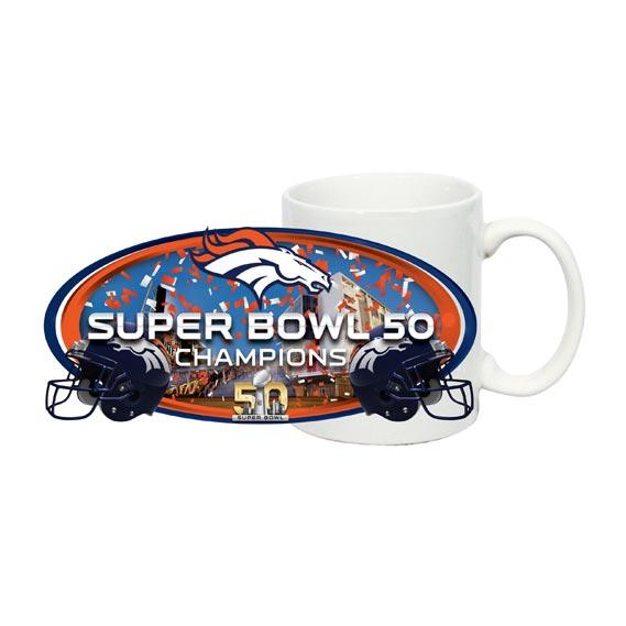Denver Broncos 2016 Super Bowl 50 Champions Sublimated Coffee Mug 569x569