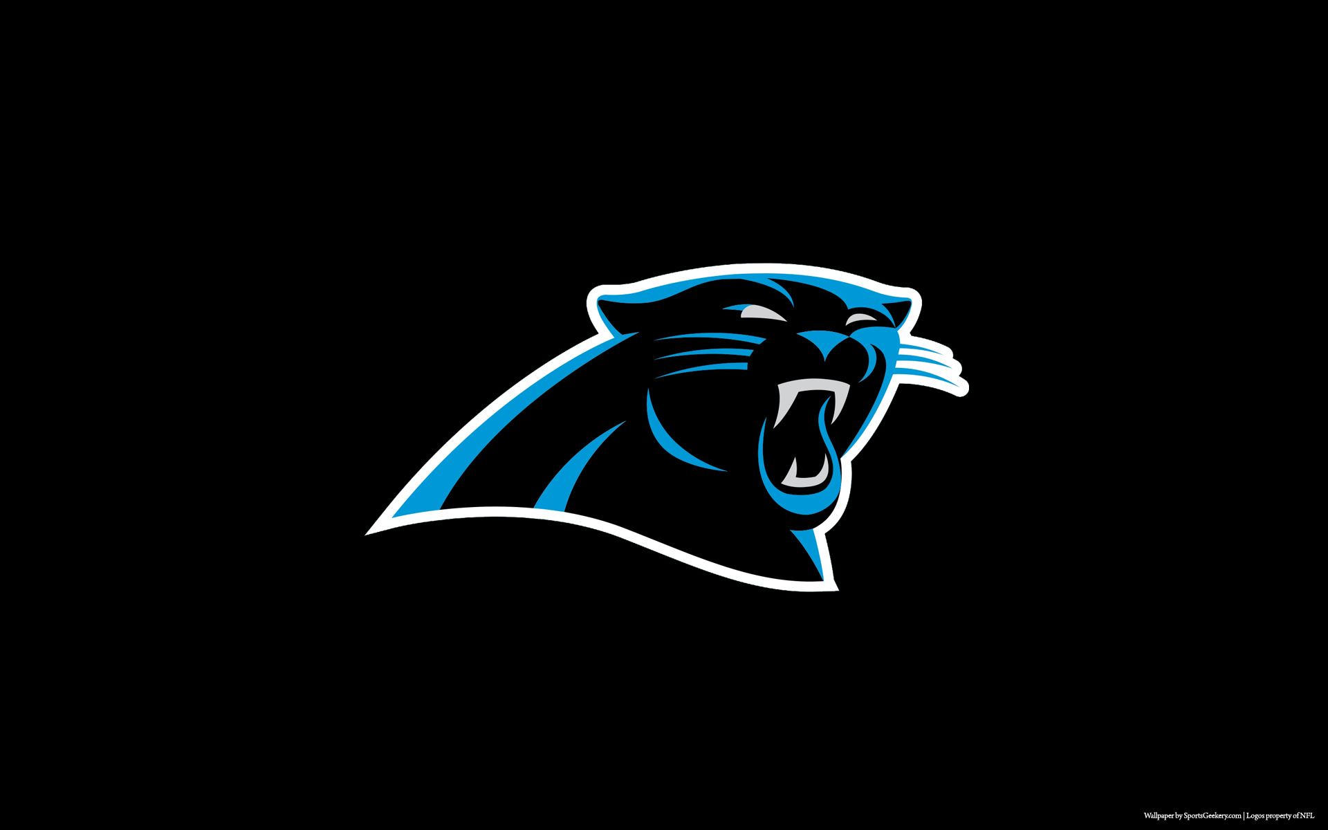 Carolina Panthers Black Wallpaper for Phones and Tablets 1920x1200