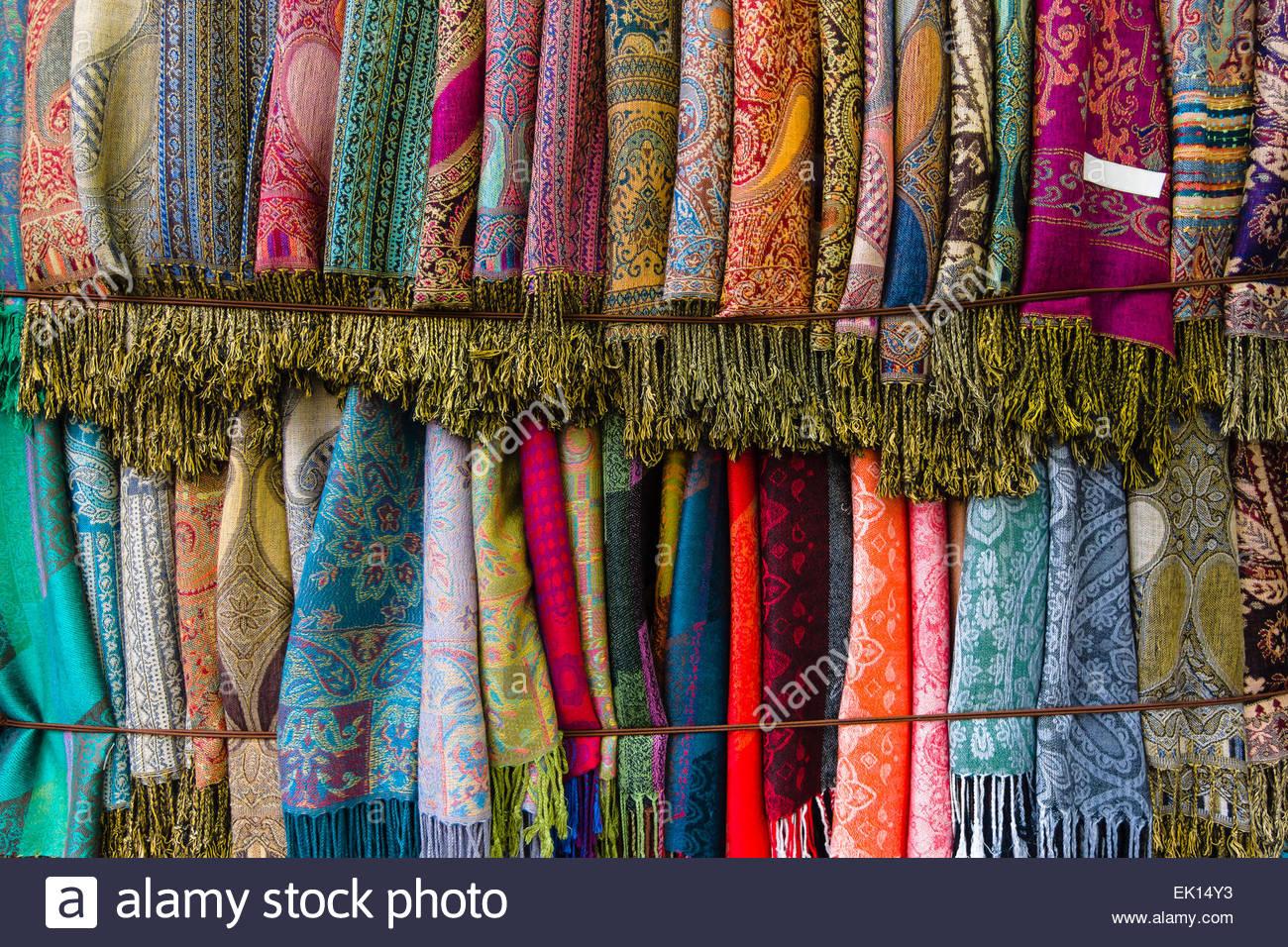 Cashmere scarves Background Stock Photo 80545783   Alamy 1300x956