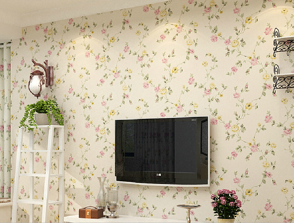 Free Download House 3d Tv Wall Pastoral Style Wallpaper