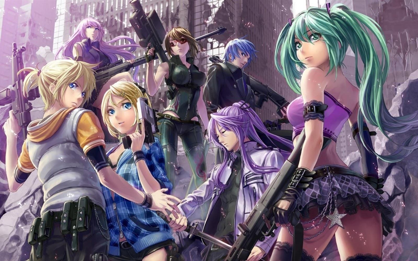 Anime Girl Characters Full HD Desktop Wallpapers 1080p 1600x1000