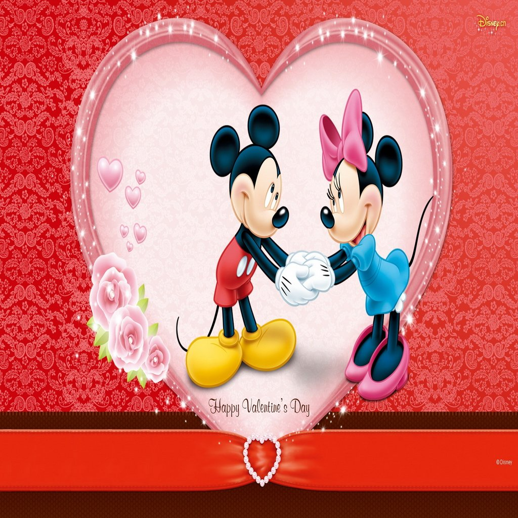 Mickey Mouse ValentineMickey And Minnie Valentines Day Wallpaper