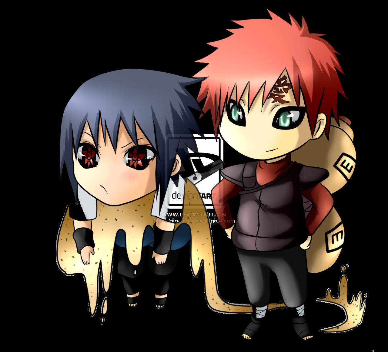 Sasuke and Gaara chibi x3 by nekito ototo 1280x1163