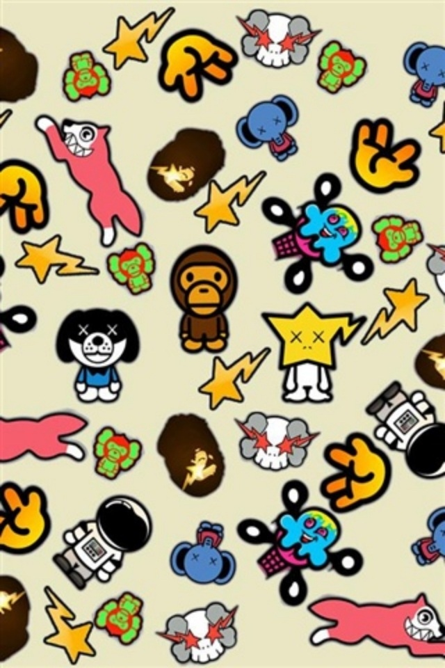 Free Download Hd Cool Cartoons Paster Iphone 4 Wallpapers