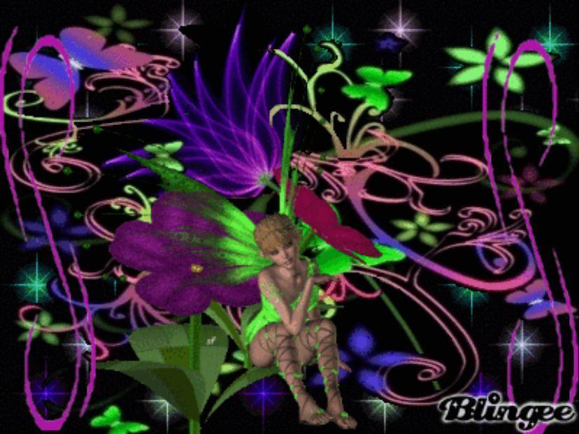 Glowing Fairy and Pixie Wallpaper - WallpaperSafari Neon Fairy Wallpaper