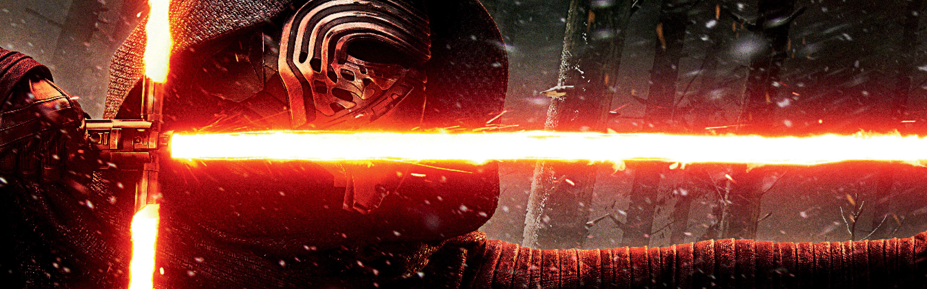 Kylo Ren Force FX Lightsaber Wallpapers HD Wallpapers 3840x1200
