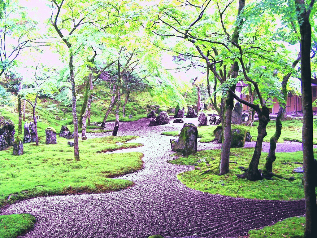 Japanese zen garden wallpaper wallpapersafari for Japanese zen garden