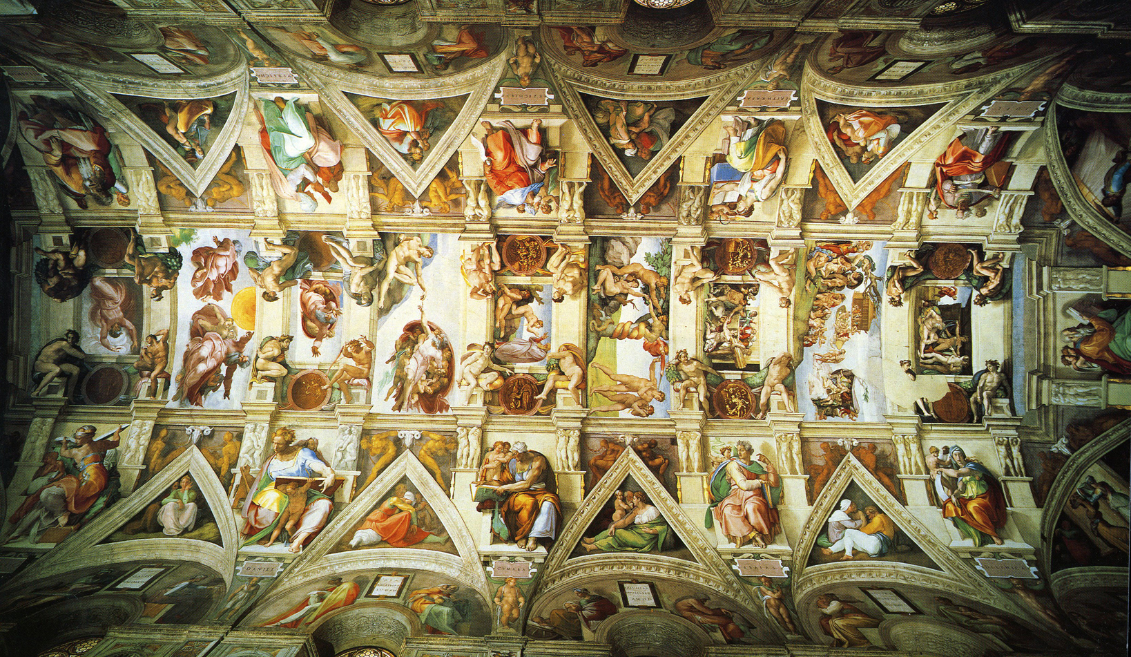 Sistine Chapel Ceiling HD Wallpaper Background Images 1638x951