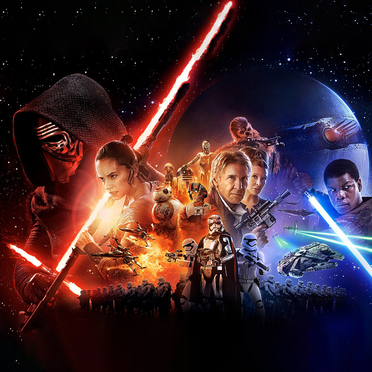 Star Wars The Force Awakens wallpaper 1280x1280