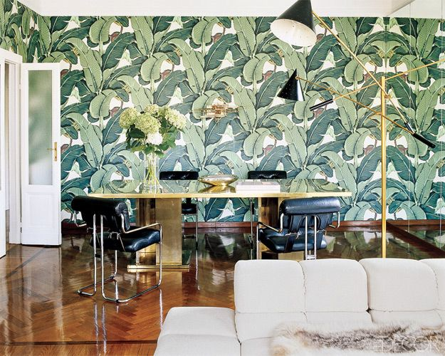 Hinson wallpaper via Elements of Style FabricsWallcoverings Pint 625x500