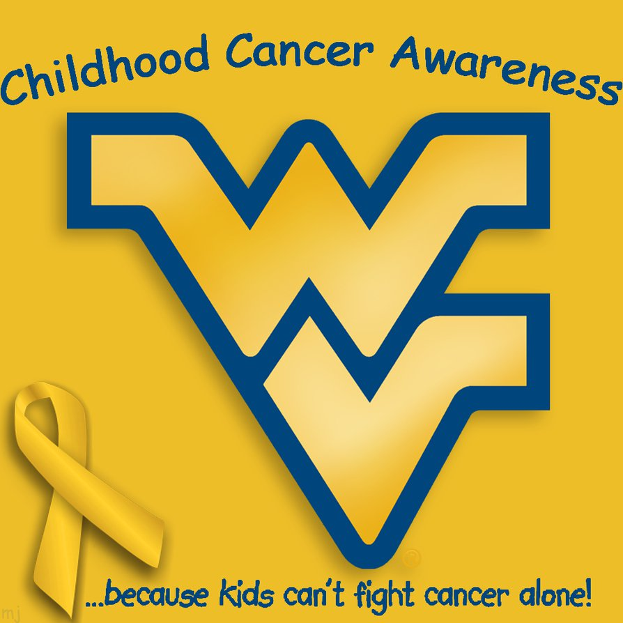 WVU Flying WV Childhood Cancer Awareness by wretchedvoid 894x894
