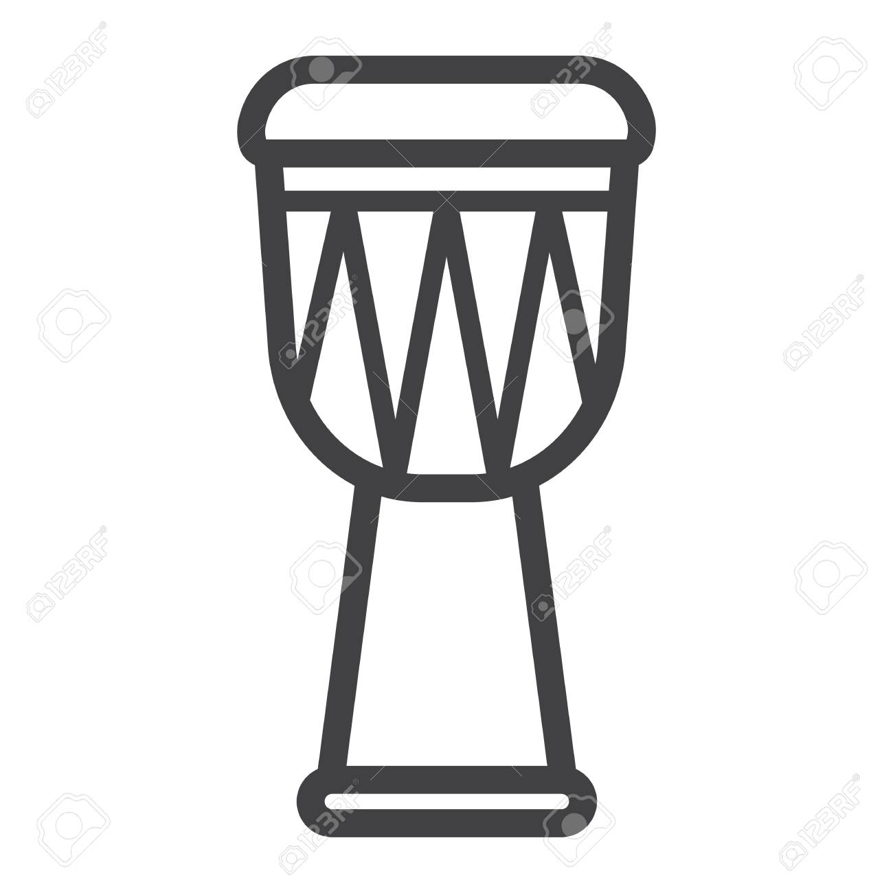 African Djembe Drum Line Icon Music And Instrument Sound Sign 1300x1300