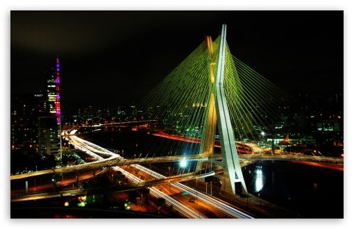 Sao Paulo Bridge HD wallpaper for Standard 4:3 5:4 Fullscreen UXGA XGA ...
