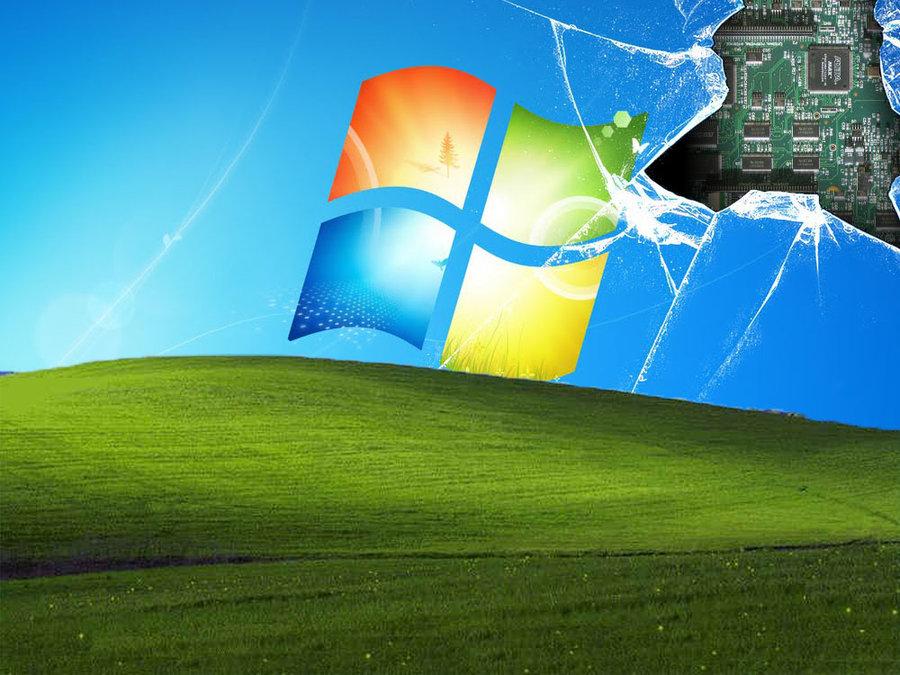 windows xp and 7 broken screen by cjsoosexy on deviantart windows xp 900x675