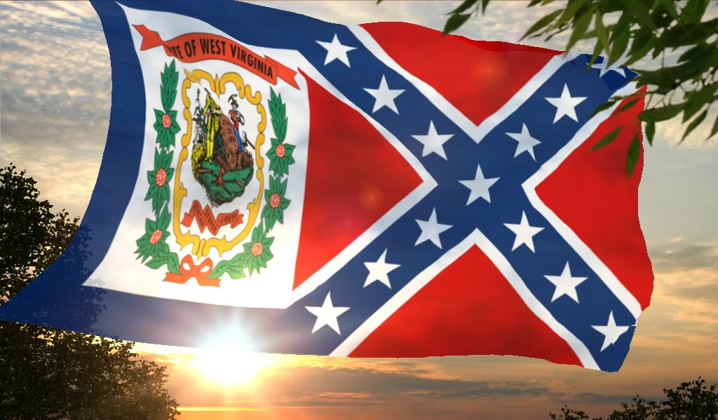 West Virginia Confederate flag wallpaper photo WVRebel3 1jpg 1024x600