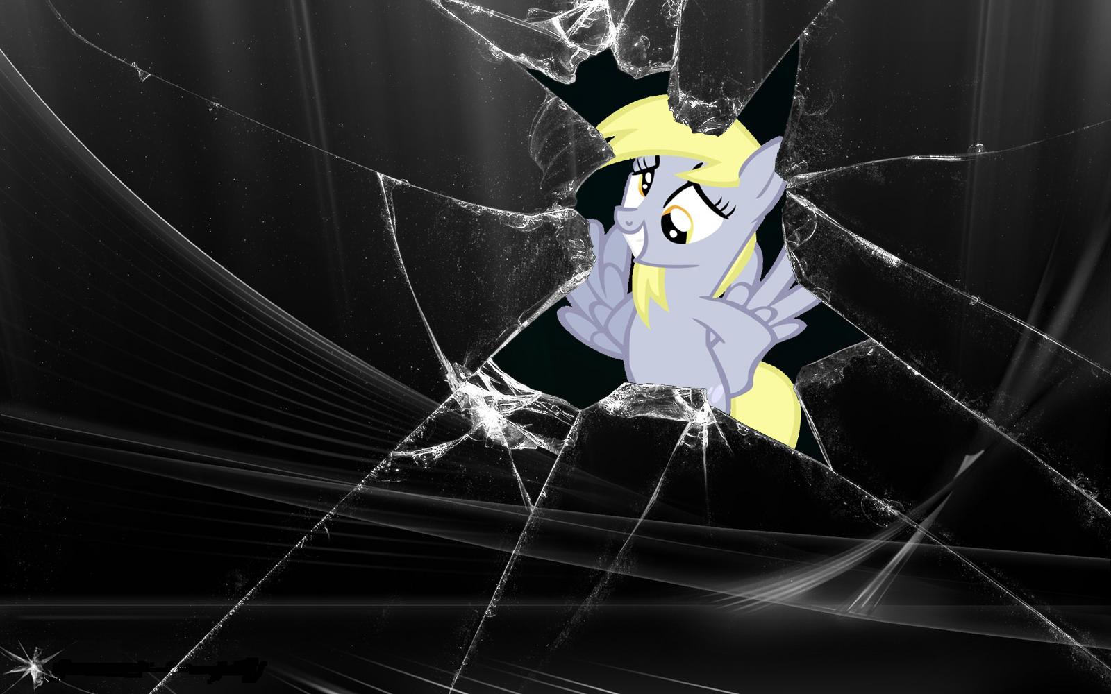 Broken Screen  Derpy by VinylDash 1600x1000