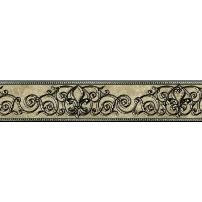 Iron Peel and Stick Wallpaper Border QA4W0564   All 4 Walls Wallpaper 650x650