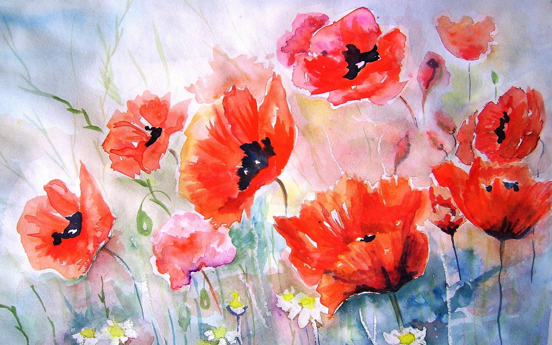 48 Watercolor Painting Wallpapers On Wallpapersafari