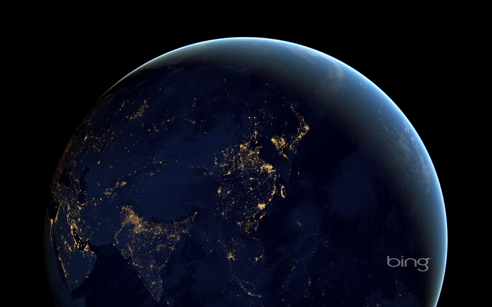 Composite image of Earth at night from space Robers SimmonNASA 1600x1000