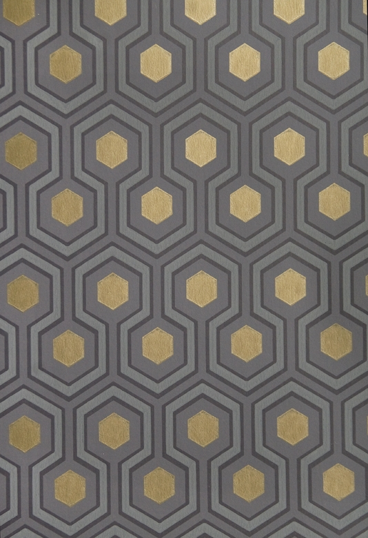 Hexagon Wallpaper Small Geometric Design design wallpaper in Grey 534x780