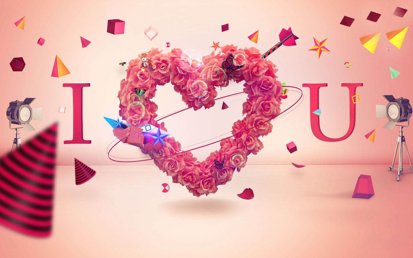 Free Download You Wallpapers Love 3d Wallpapers Love 3d Vector