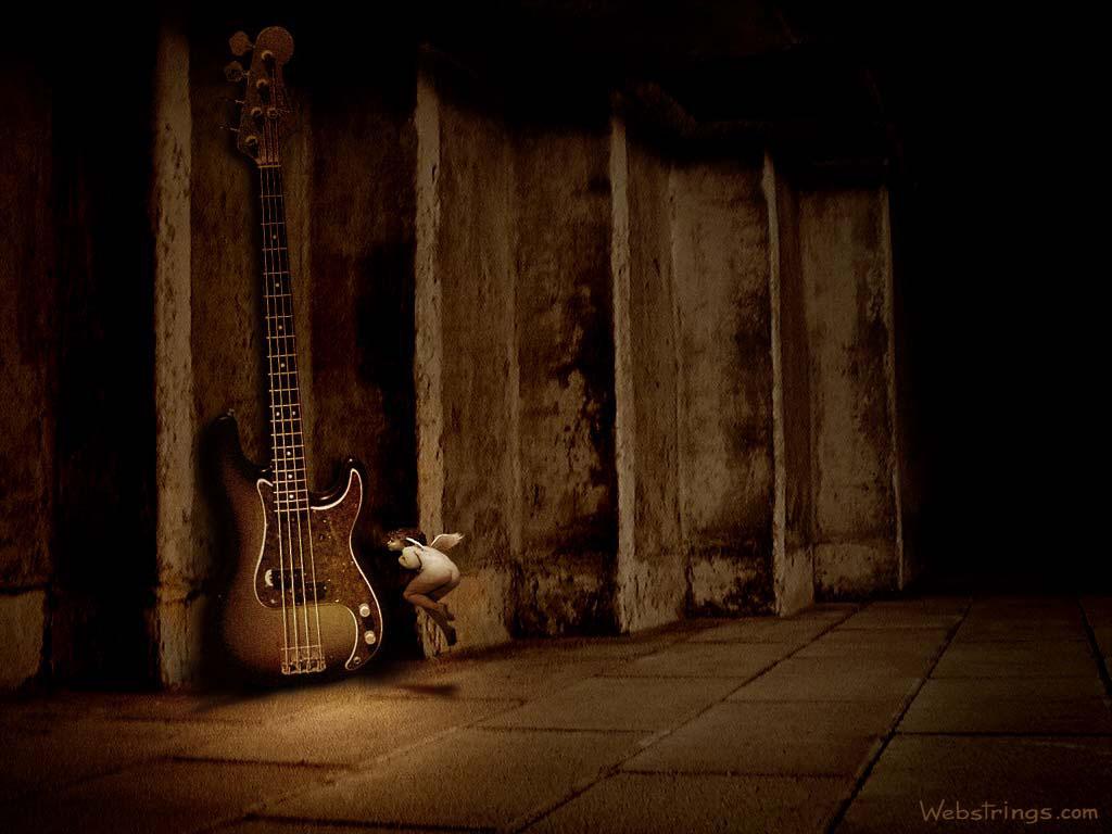 Guitar Wallpaper   Guitar Art   Guitar Strings   Webstrings   p bass 1024x768