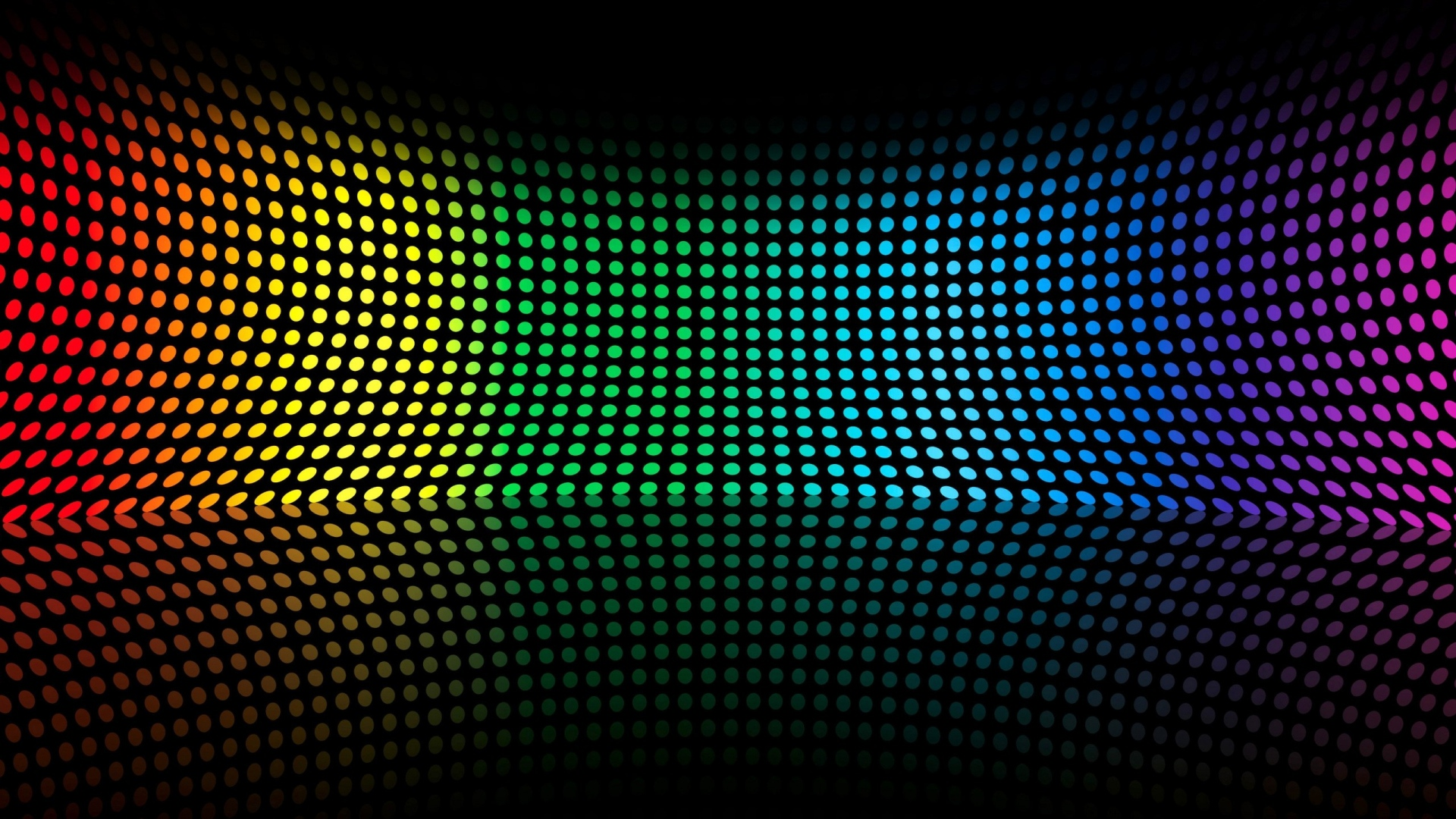 Colorful Curved Disco Light Bending Pattern Wallpaper WallpapersByte 1920x1080