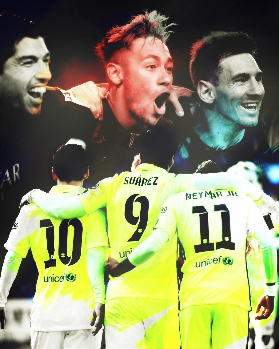 Messi And Neymar And Suarez Wallpaper 8 907x1134