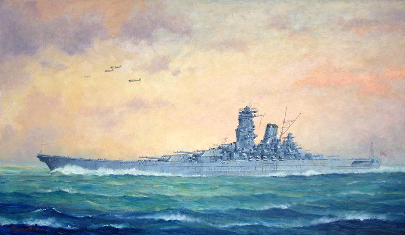 Battleship YAMATO  by temma22 800x465