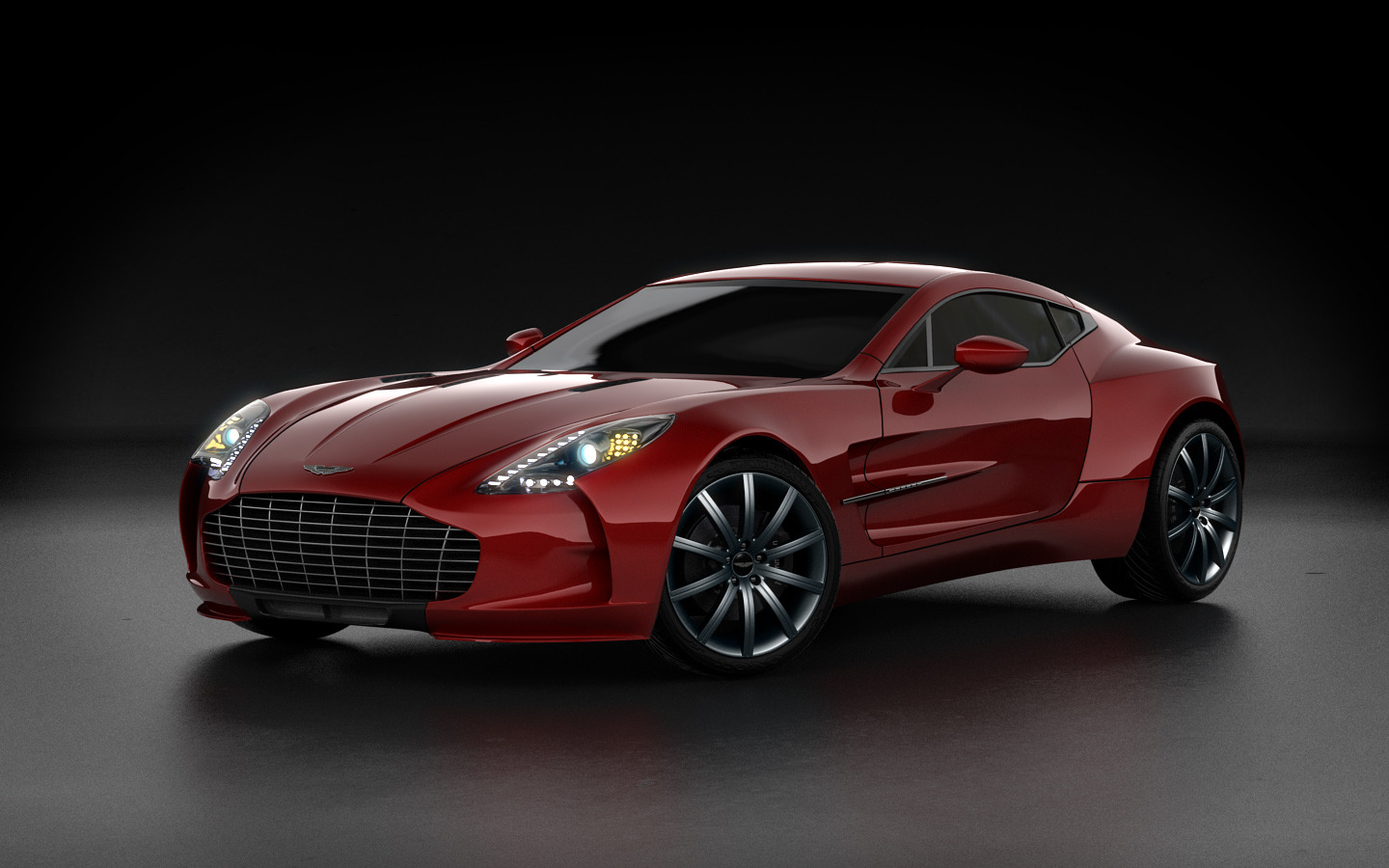 Aston Martin One 77 Red 1 1440x900