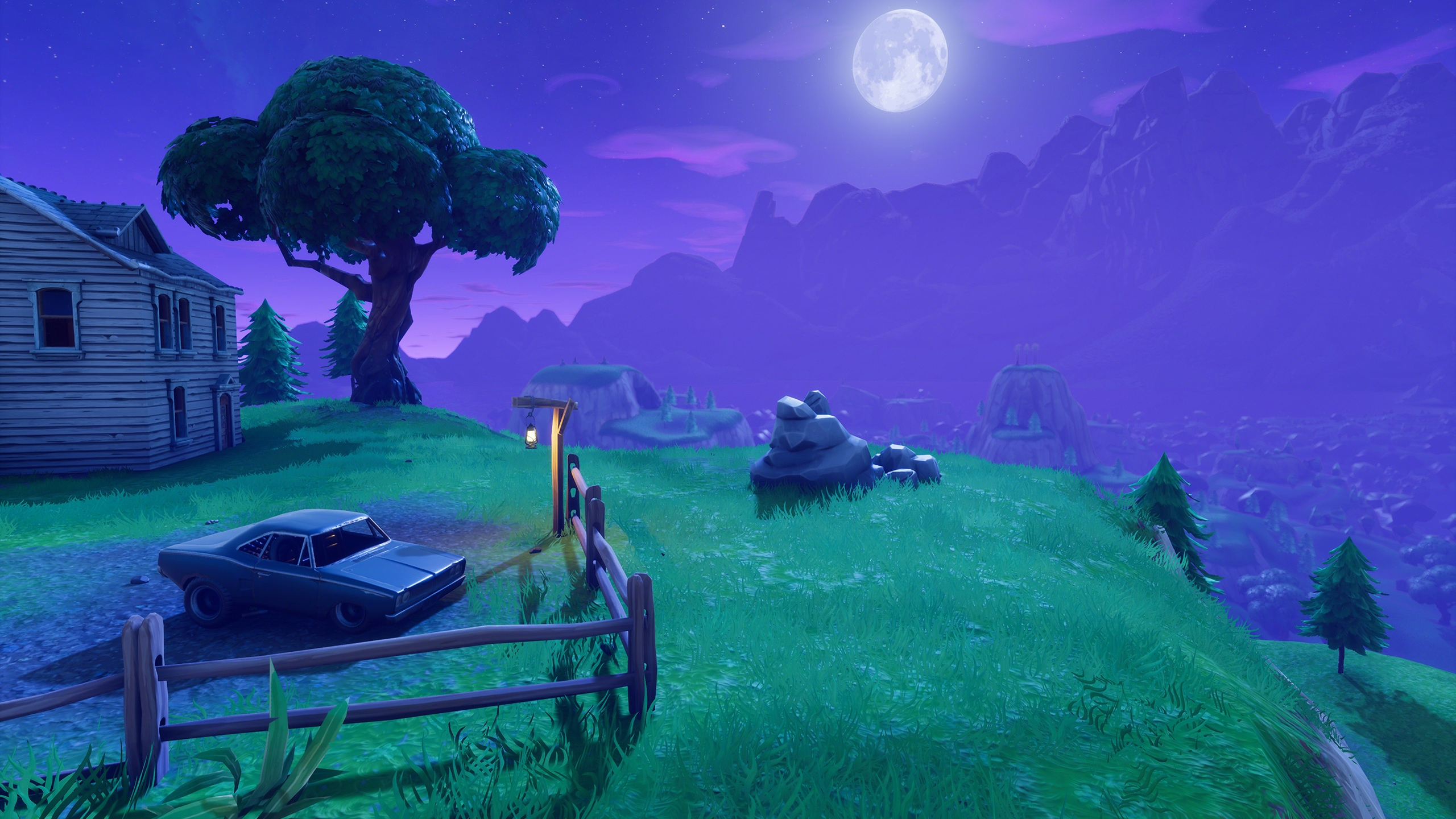 Free Download Fortnite Night House On Hill Hd Wallpaper 163