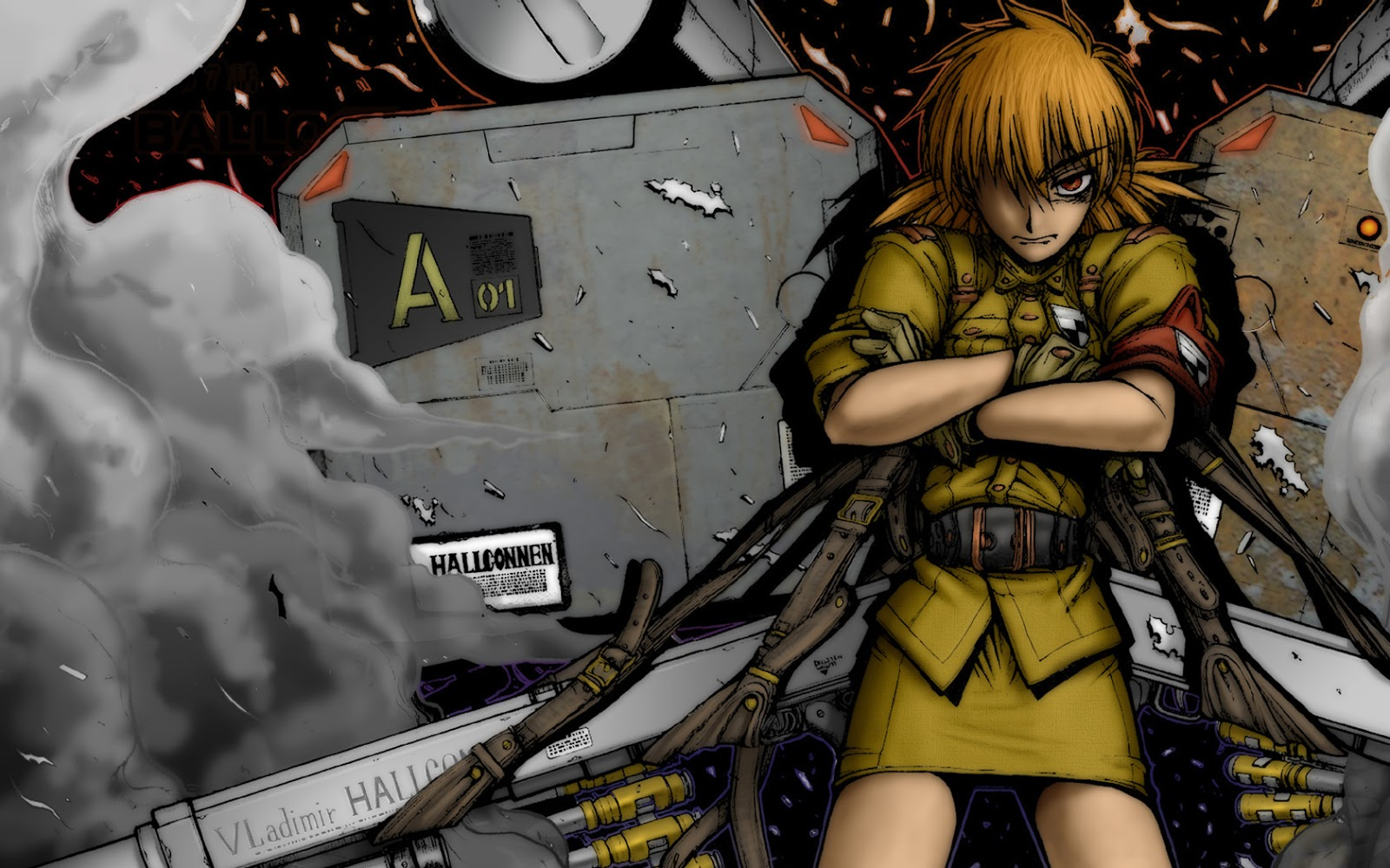 Seras Victoria HD Wallpaper Hellsing OVA Ultimate Big Gung Anime Girl 1600x1000