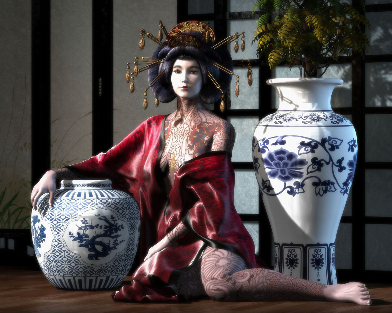 Japanese wallpapers Asian women wallpapers 1280x1024