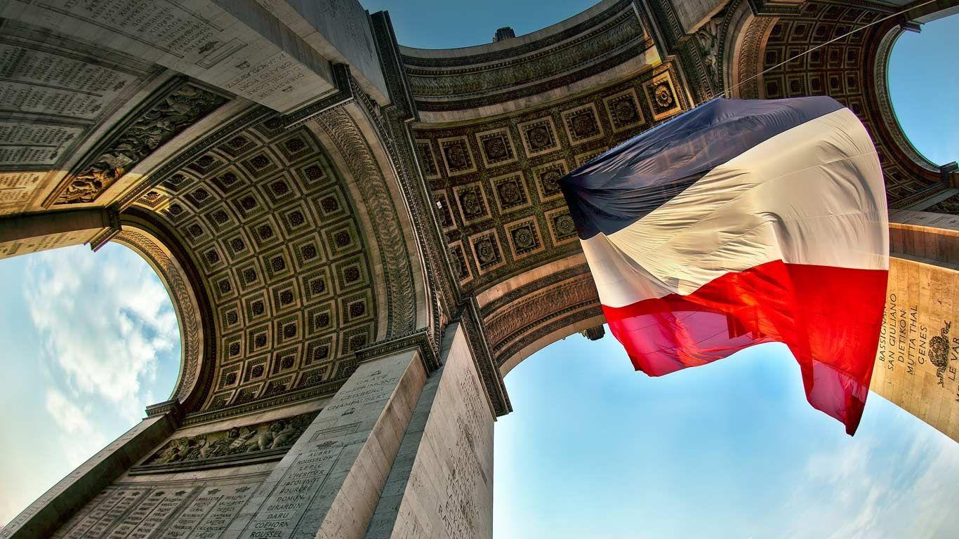 Bing Image Archive Arc de Triomphe de ltoile Paris le de 1366x768