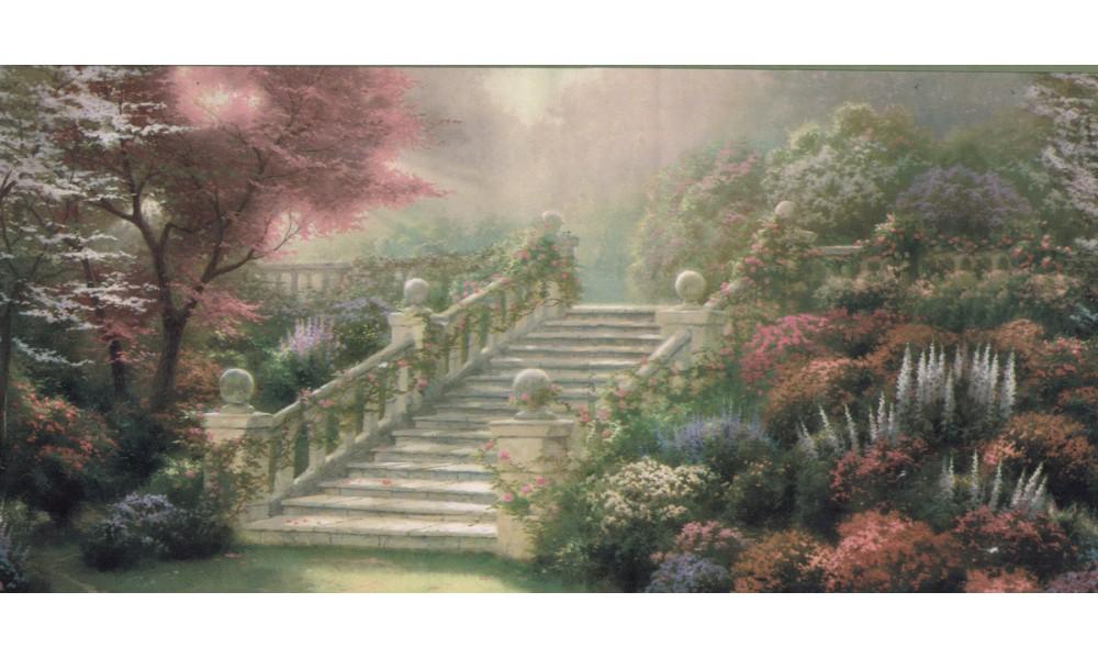 Home Thomas Kinkade Landscape Wallpaper Border 30882520 1000x600