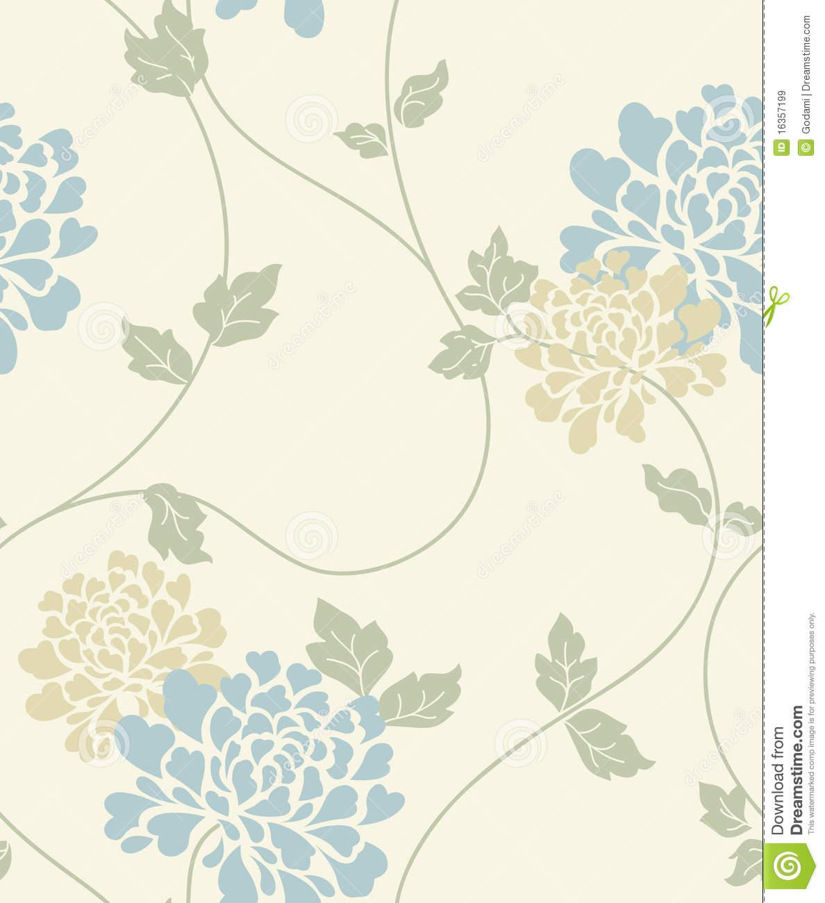 Free Download Light Blue Floral Wallpaper Light Floral Vintage
